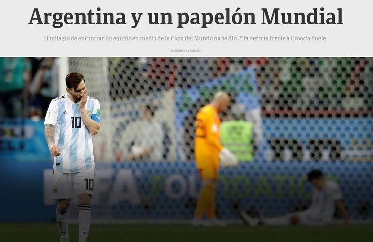 'Argentinië en een WK-afgang'