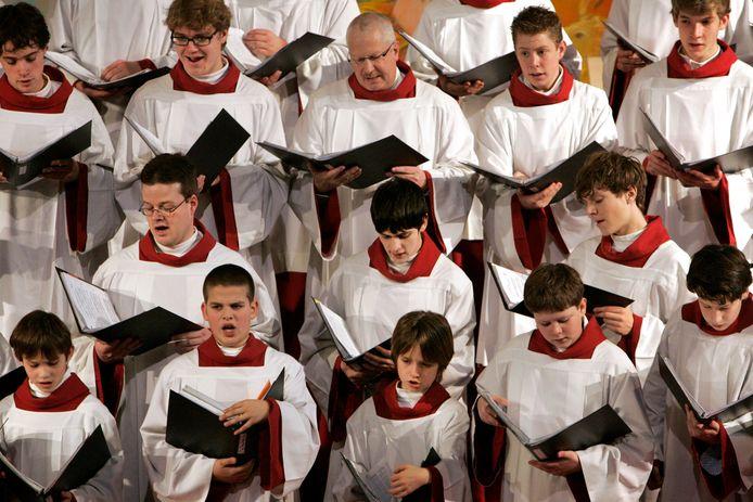 Het Sacramentskoor tijdens een eerder kerstconcert.