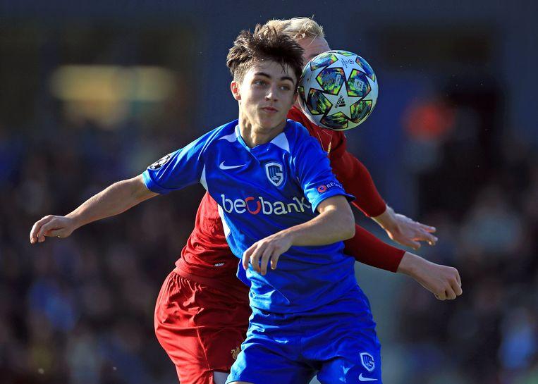 Luca Oyen in de Youth League.