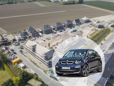 Zo ziet Havenstadt in Stad aan 't Haringvliet er nu uit. Het wordt een nieuwbouwwijk, op loopafstand van het water, met een BMW als deelauto 'voor de deur'.