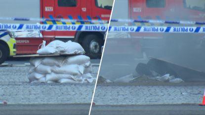 Video toont hoe ontmijningsdienst tweede explosief Antwerpen-Noord gecontroleerd laat ontploffen