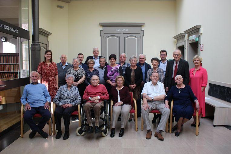 Groepsfoto van de jubilarissen