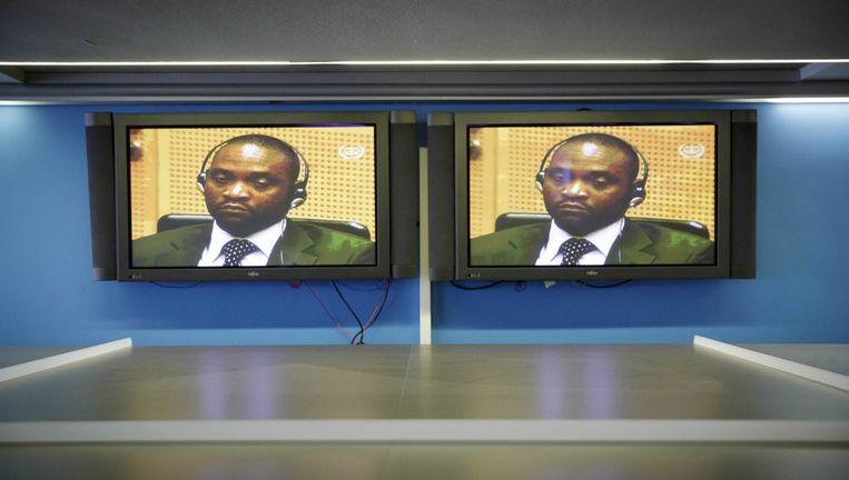 de Congolese verdachte van oorlogsmisdaden Germain Katanga. Beeld epa