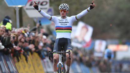Van der Poel rijdt na demonstratie in Lille naar 29ste zege, Nederlander is ook eindwinnaar van de DVV-Trofee