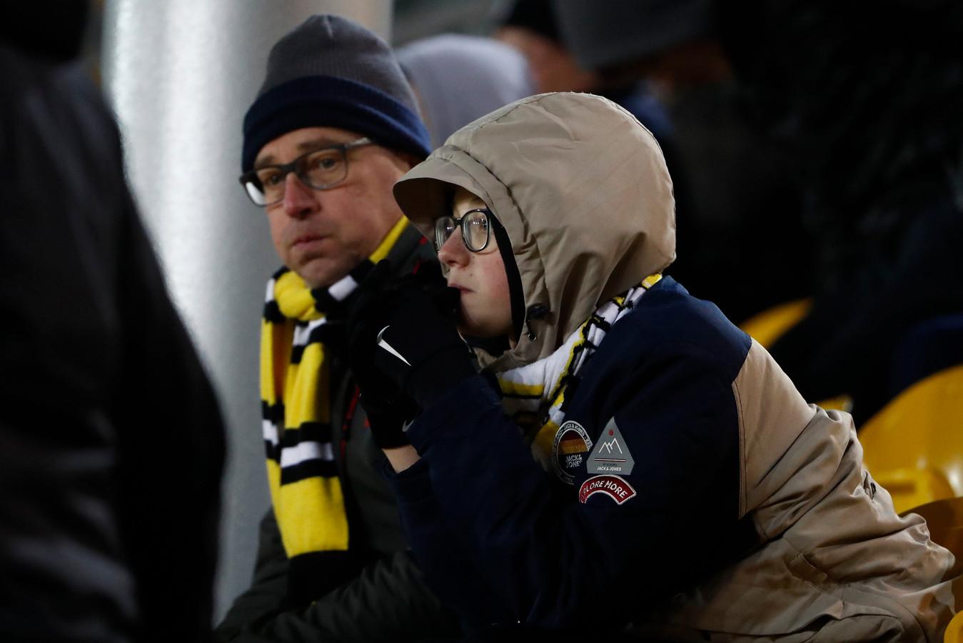 Fans van Lokeren blijven verweesd achter na de nederlaag tegen Beerschot van afgelopen vrijdag.