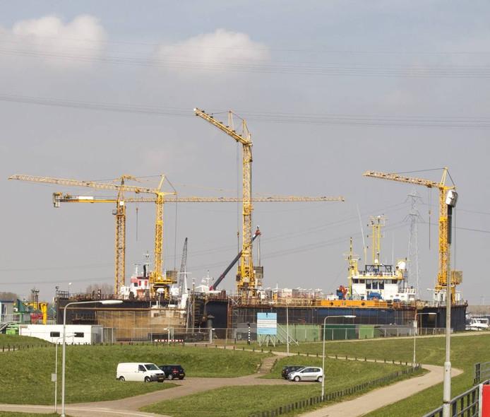 De haven van Hansweert.