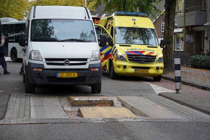 Ongeluk op de Oude Hilvarenbeekseweg in Tilburg