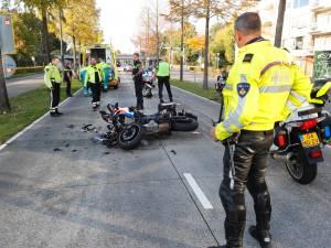 Motoragent rijdt bovenop andere motoragent tijdens marathon Eindhoven, agent gewond naar ziekenhuis