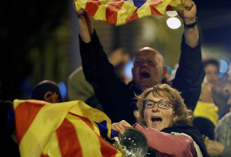 Catalaanse betogers namen potten en pannen mee naar hun protest.
