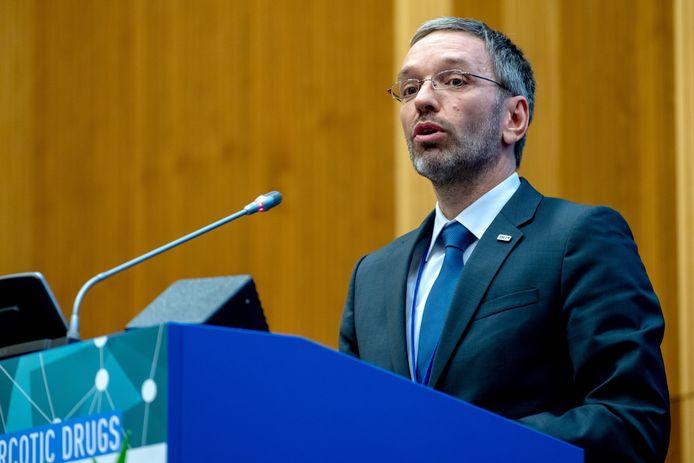 Herbert Kickl trad namens de Oostenrijkse populistische regeringspartij FPÖ vorig jaar aan als minister van Binnenlandse Zaken in Oostenrijk.