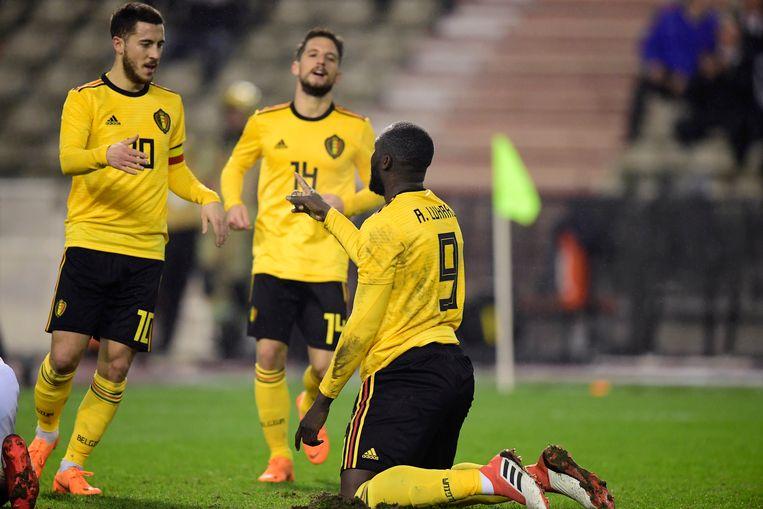 Eden Hazard, Dries Mertens en Romelu Lukaku.