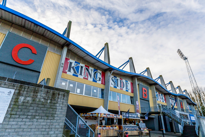 De Kingside van Willem II blijft bij de wedstrijd tegen PSV vijf minuten leeg.