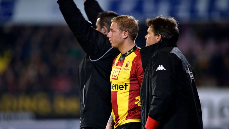 Legear in het shirt van KV Mechelen.