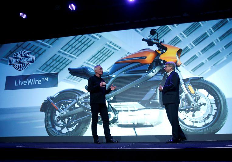 De volledig elektrische LiveWire van Harley-Davidson.