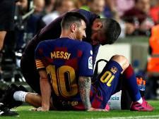 Bovenbeenkwetsuur zet Messi voorlopig buitenspel