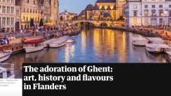 """""""Zo mooi als Brugge, maar dan zonder de drukte"""" The Guardian tipt Gent als reisbestemming"""