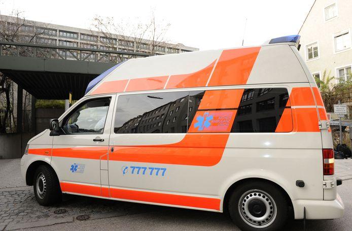 Ter illustratie. Een Duitse ambulance.