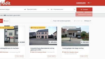 Stad verkoopt eigendommen via digitaal platform Biddit