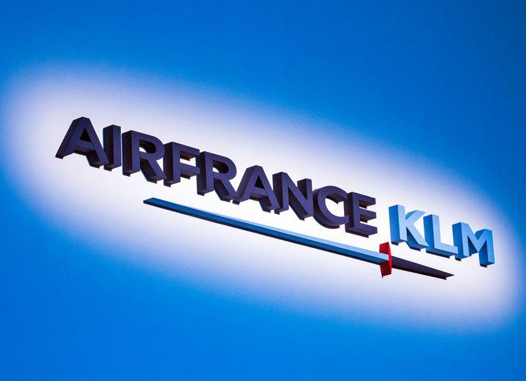 Het logo van Air France -KLM. Beeld EPA