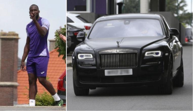 Lukaku kwam met een peperdure Rolls Royce naar Neerpede.