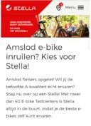 Een eerdere actie van Stella Fietsen waarin wordt geadverteerd met een inruilactie waarbij Amslod wordt genoemd.
