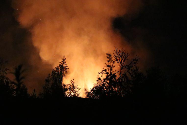 De brandweer had het vuur na een half uur onder controle.
