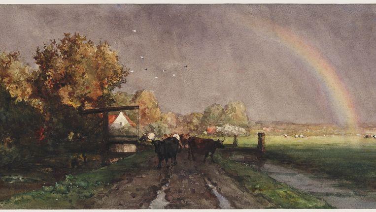 Willem Roelofs, Na het onweer, circa 1875. Uit de collectie van het Teylers Museum. Beeld Teylers Museum, Haarlem