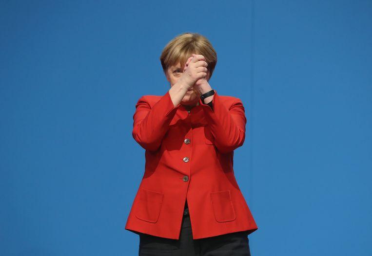 Welk gezicht zal Merkel laten zien? Beeld Sean Gallup / Getty