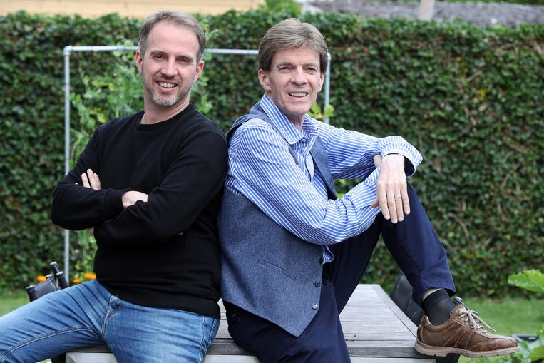 Paul Severs met zijn zoon Christophe  Halle  juni 2018