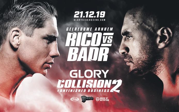 Poster gevecht Rico Verhoeven vs Badr Hari op 21 december 2019 Kickboksen