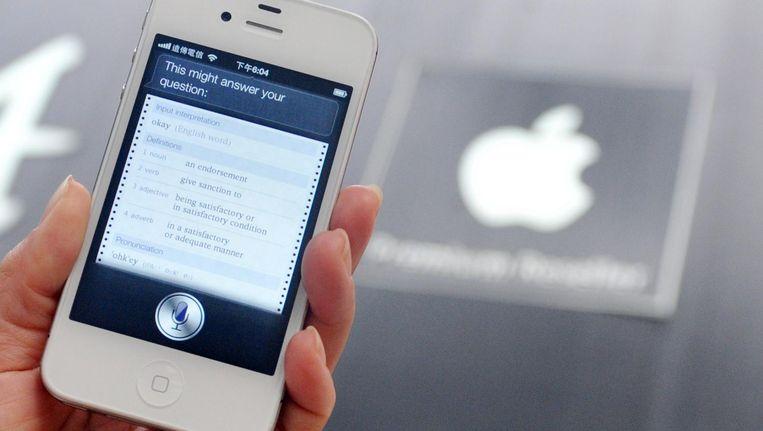 Wie een iPhone heeft, zal ongetwijfeld Siri kennen. Beeld AFP