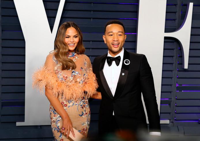 Chrissy Teigen met echtgenoot John Legend