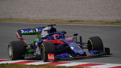 Daniil Kvyat is met zijn Toro Rosso de snelste op derde Formule 1-testdag