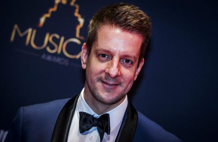 Alex Klaasen op de rode loper voorafgaand aan het Musical Awards Gala. Beeld anp