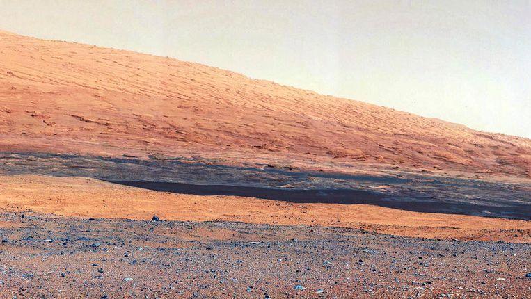 Mount Sharp, gefotografeerd door Curiosity. Beeld Reuters
