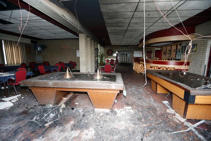 Schade door brand bij Buurthuis De Ketting. Foto Bert Jansen
