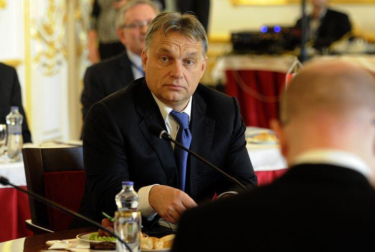 De Hongaarse premier Viktor Orbán staat al geruime tijd bloot aan internationale kritiek. Beeld afp