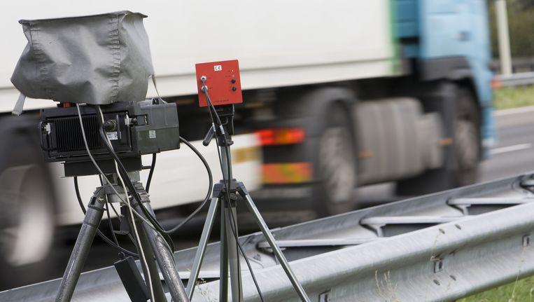 Snelheidscontrole op de A4 bij Leidschendam. Beeld anp