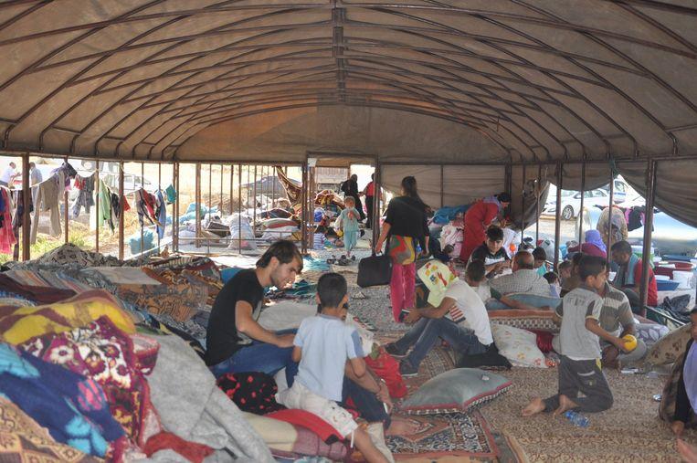 Gevluchte yezidi's in Turkije Beeld getty