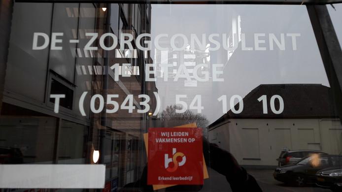 Het kantoor van de Zorgconsulent in Winterswijk is verlaten.
