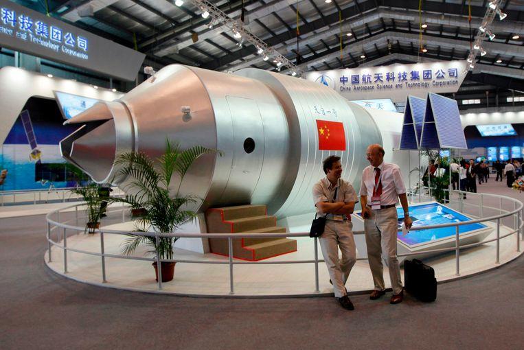 China stelde vandaag een replica van de Tiangong voor. Die zou vanaf 2024 het ISS vervangen.