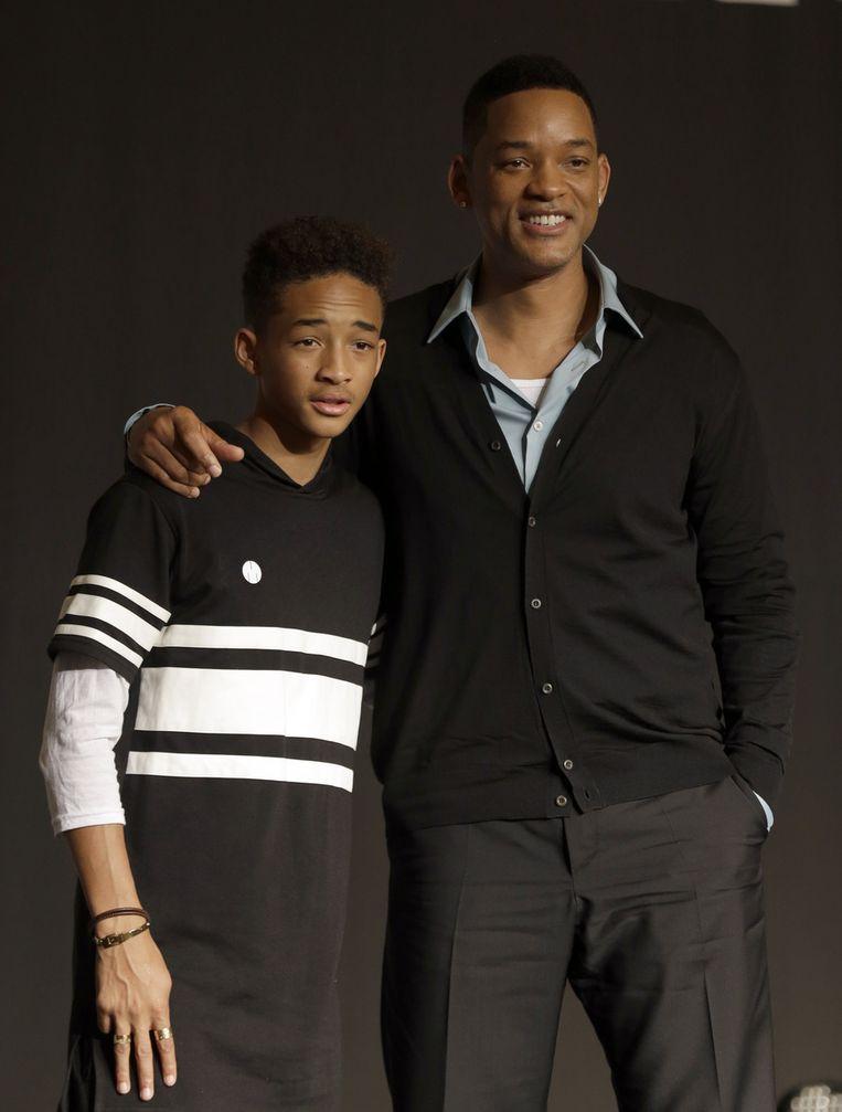 Will Smith en zijn zoon Jaden. Beeld ap