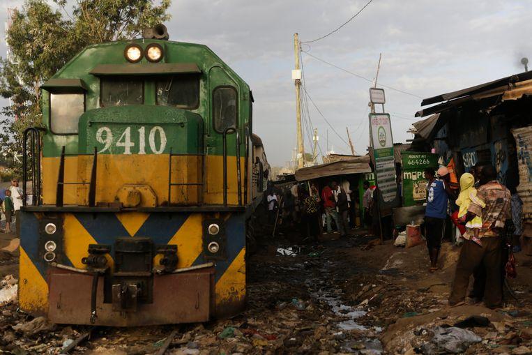 Een sloppenwijk in Nairobi, Kenia. Beeld EPA