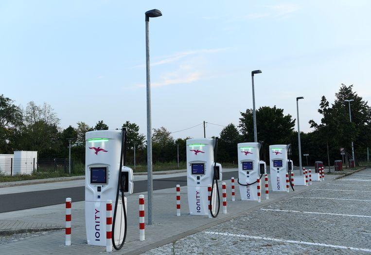 Het Duitse Ionity rolt zijn netwerk in Europa uit.  Beeld REUTERS