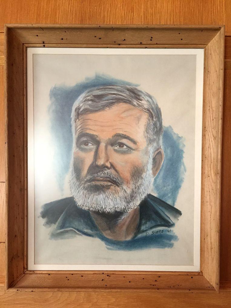 Portret van Hemingway in zijn huis. Beeld Chantal van Wees / Getty