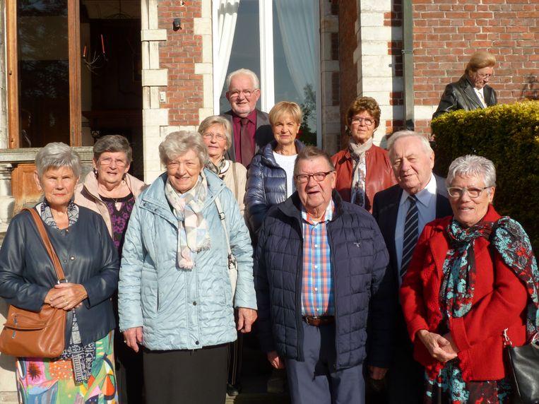 De 80-jarigen werden ontvangen op kasteel Blauwendael.