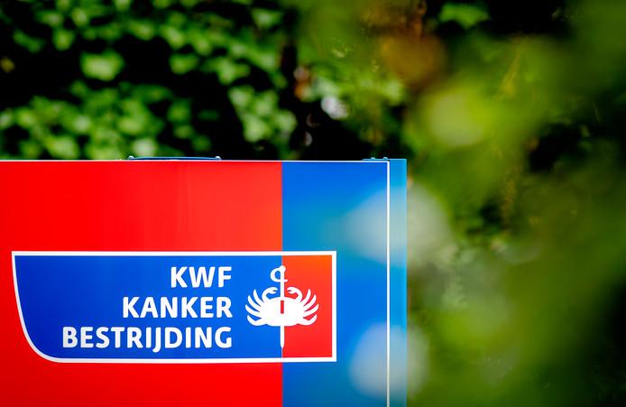 Het 'echte' logo van KWF Kankerbestrijding.
