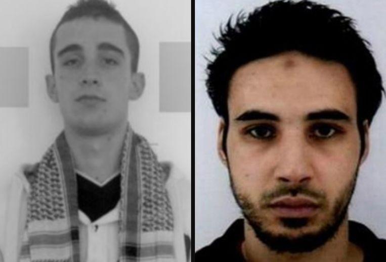 Links: Michaël Chiolo. Rechts: Chérif Chekatt.