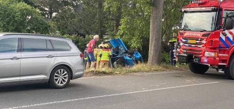 Traumahelikopter landt in Putten voor zwaargewonde na eenzijdig ongeval