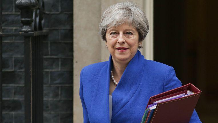 De Britse premier Theresay May.